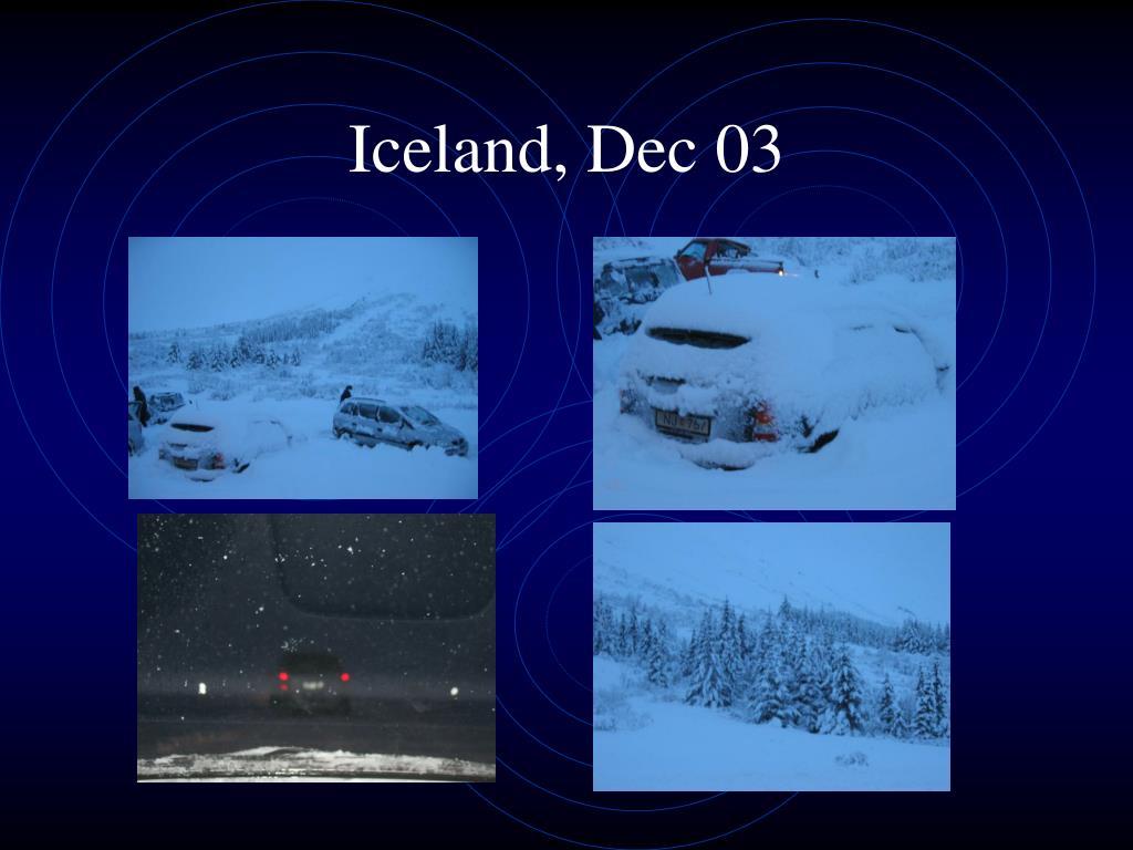 Iceland, Dec 03