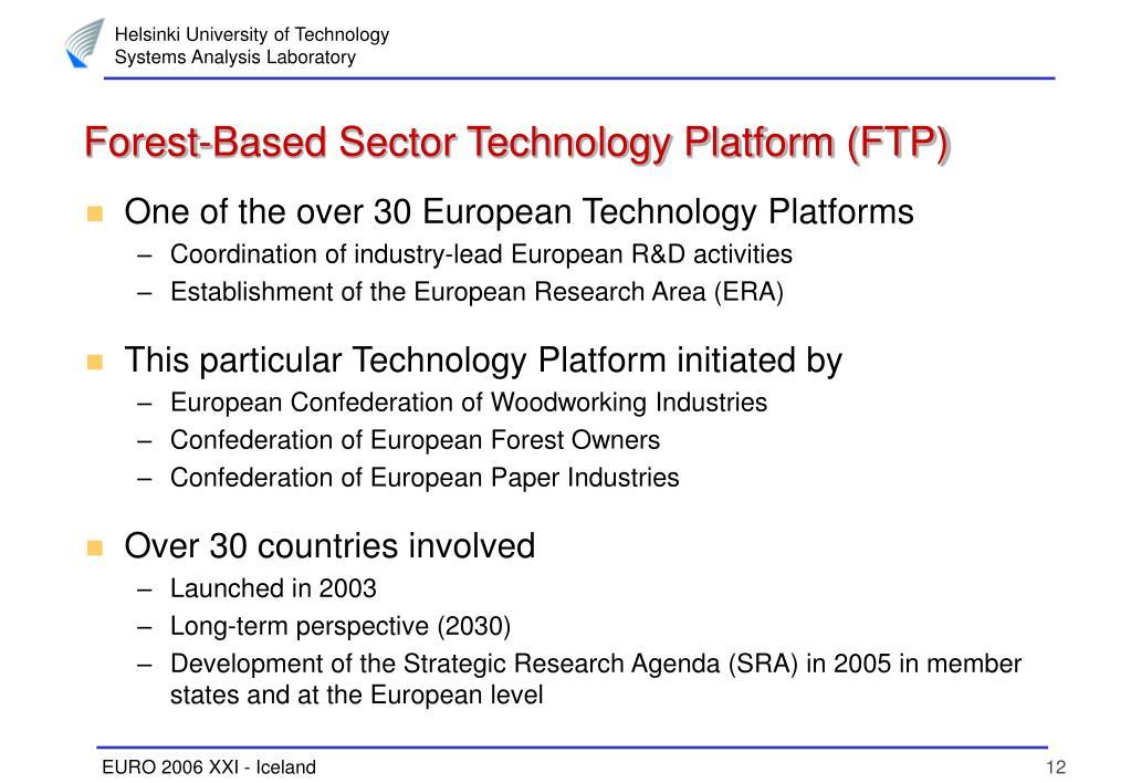 Forest-Based Sector Technology Platform (FTP)