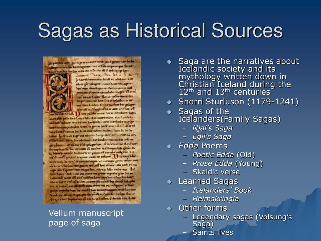 Sagas as Historical Sources