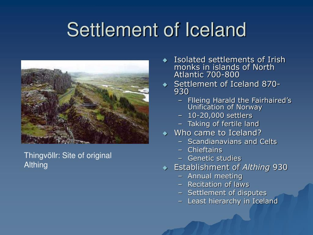 Settlement of Iceland