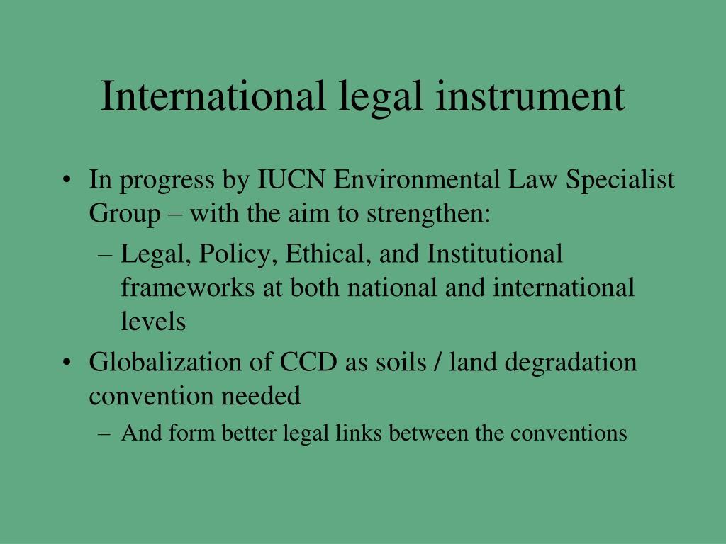 International legal instrument