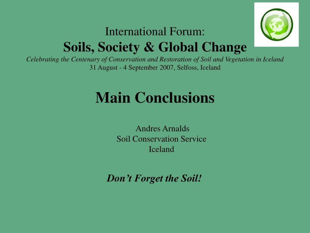 International Forum: