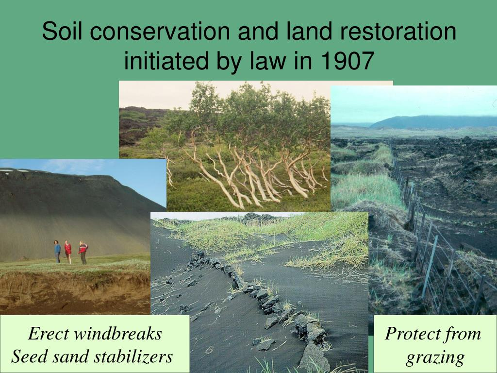 Soil conservation and land restoration initiated by law in 1907