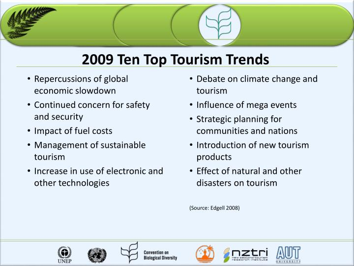 2009 Ten Top Tourism Trends