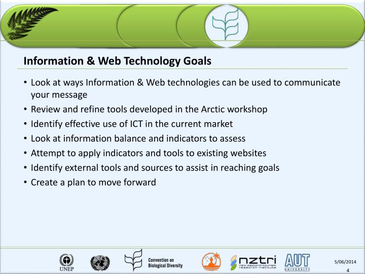 Information & Web Technology Goals