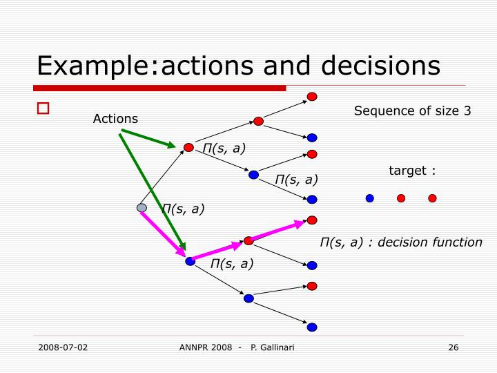 Example:actions and decisions