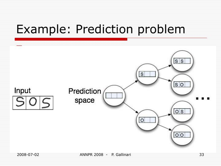 Example: Prediction problem