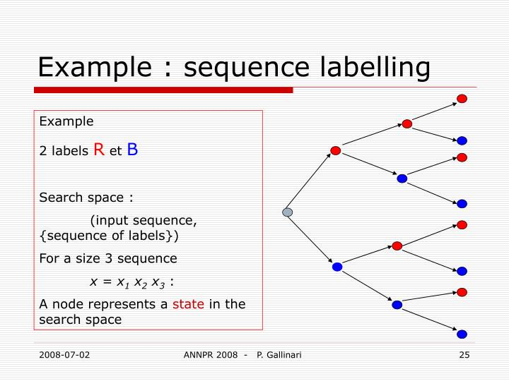 Example : sequence labelling
