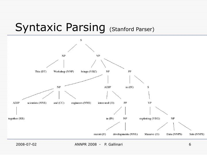 Syntaxic Parsing