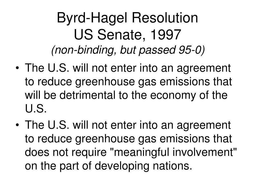 Byrd-Hagel Resolution