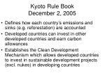 kyoto rule book december 2 2005