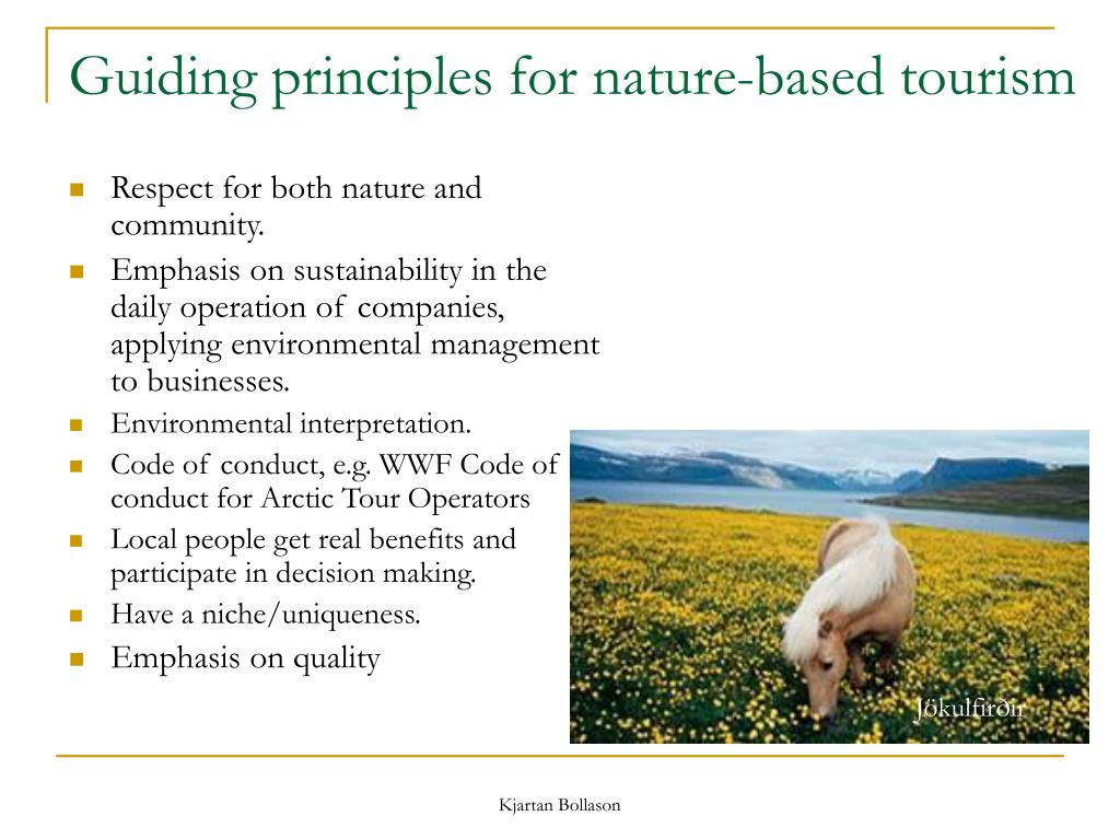 Guiding principles for nature-based tourism