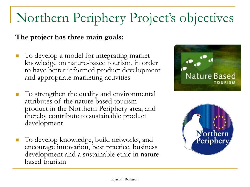 Northern Periphery Project's objectives