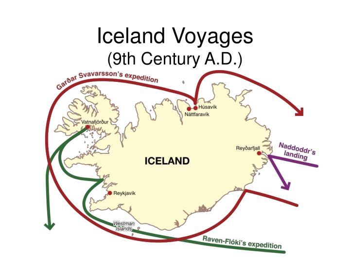 Iceland voyages 9th century a d