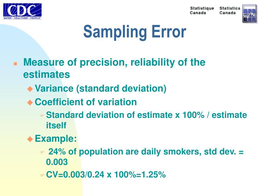 Sampling Error