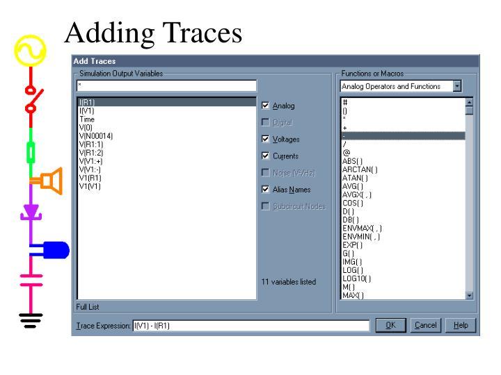 Adding Traces