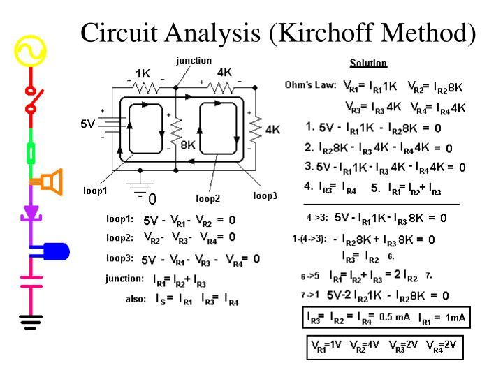 Circuit Analysis (Kirchoff Method)