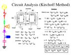circuit analysis kirchoff method