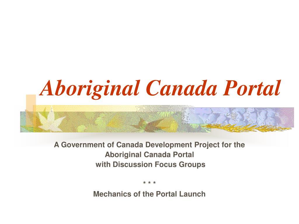 Aboriginal Canada Portal