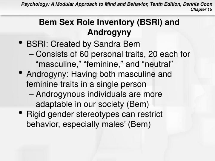 Bem Sex Role Inventory (BSRI) and Androgyny