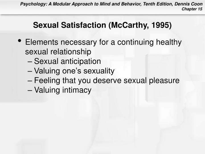 Sexual Satisfaction (McCarthy, 1995)