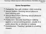 some paraphilias