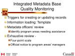 integrated metadata base quality monitoring