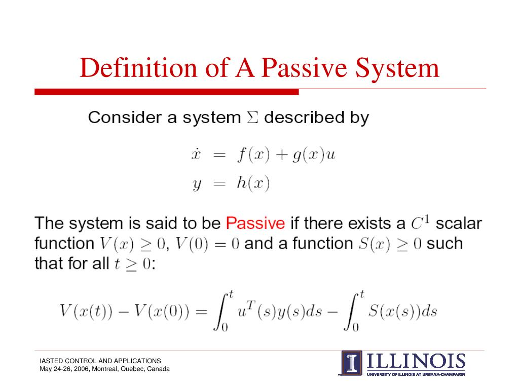 Definition of A Passive System
