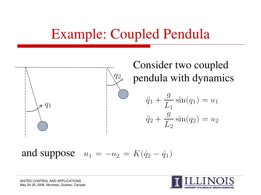 Example: Coupled Pendula