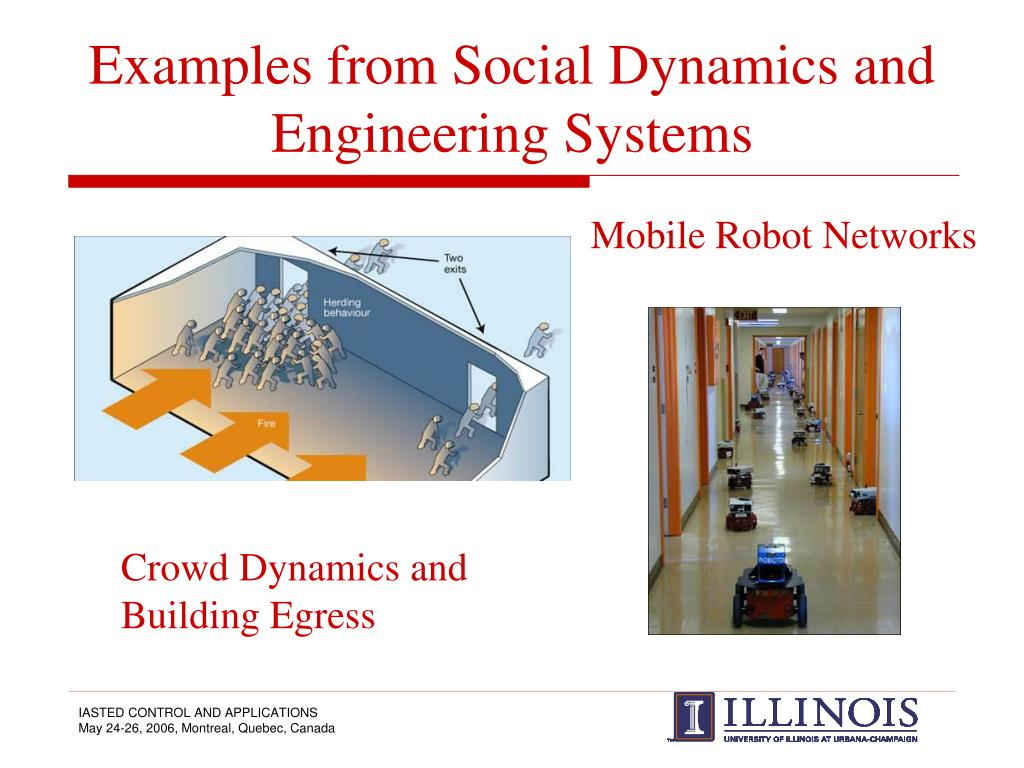 Examples from Social Dynamics and Engineering Systems