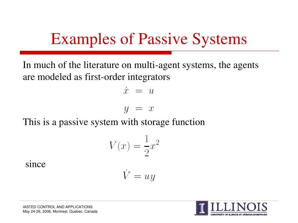 Examples of Passive Systems