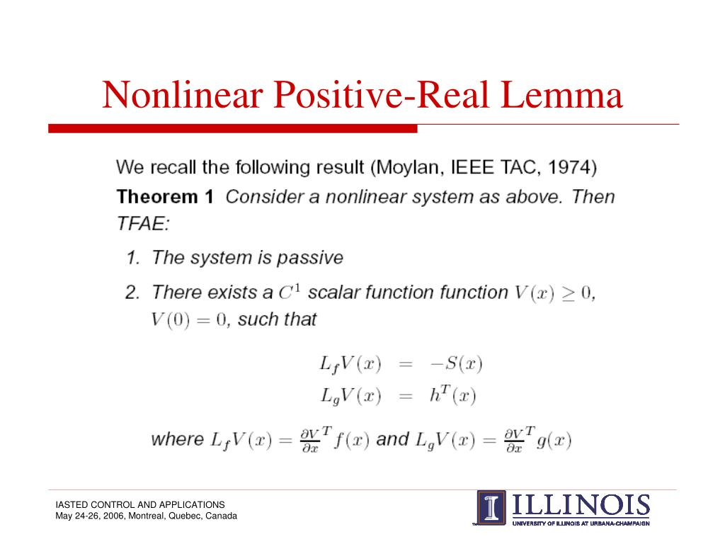 Nonlinear Positive-Real Lemma