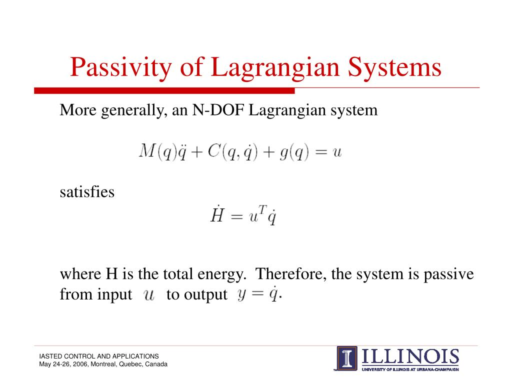 Passivity of Lagrangian Systems