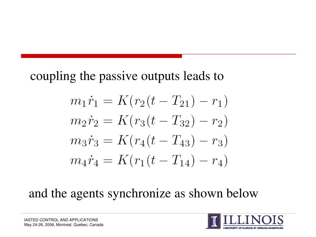 coupling the passive outputs leads to