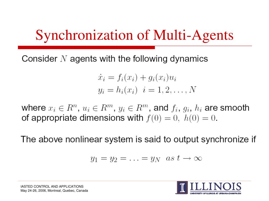 Synchronization of Multi-Agents