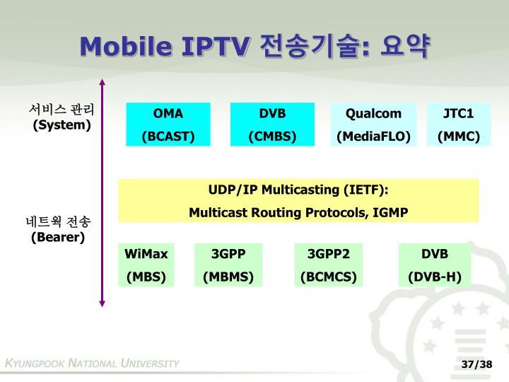 Mobile IPTV