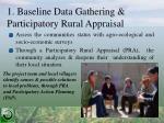 1 baseline data gathering participatory rural appraisal