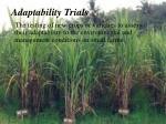 adaptability trials
