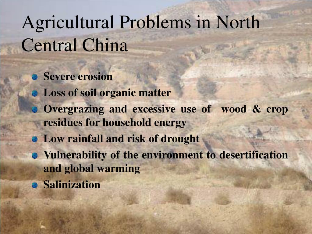Agricultural Problems in North Central China