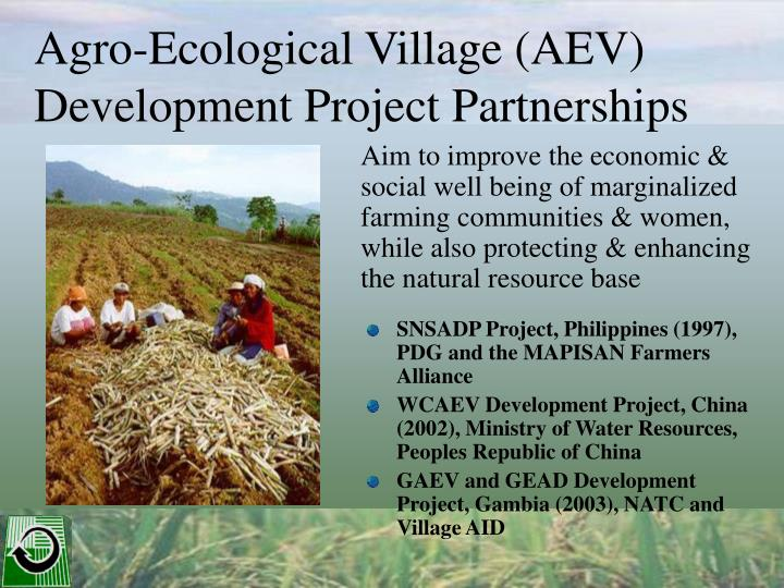 Agro ecological village aev development project partnerships l.jpg