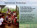 appropriate technology29