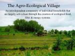the agro ecological village