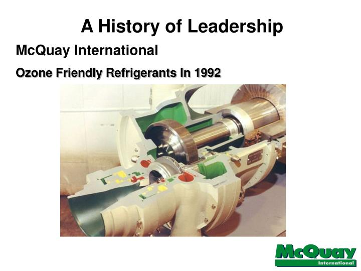 A History of Leadership
