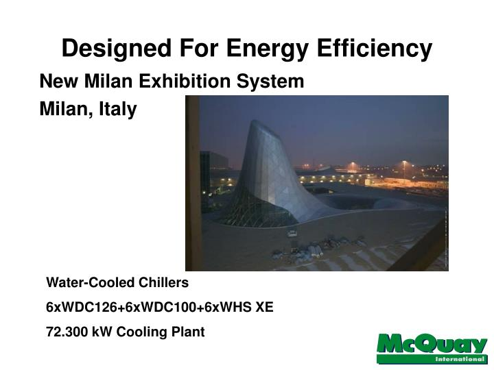 Designed For Energy Efficiency