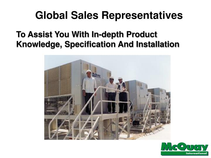 Global Sales Representatives