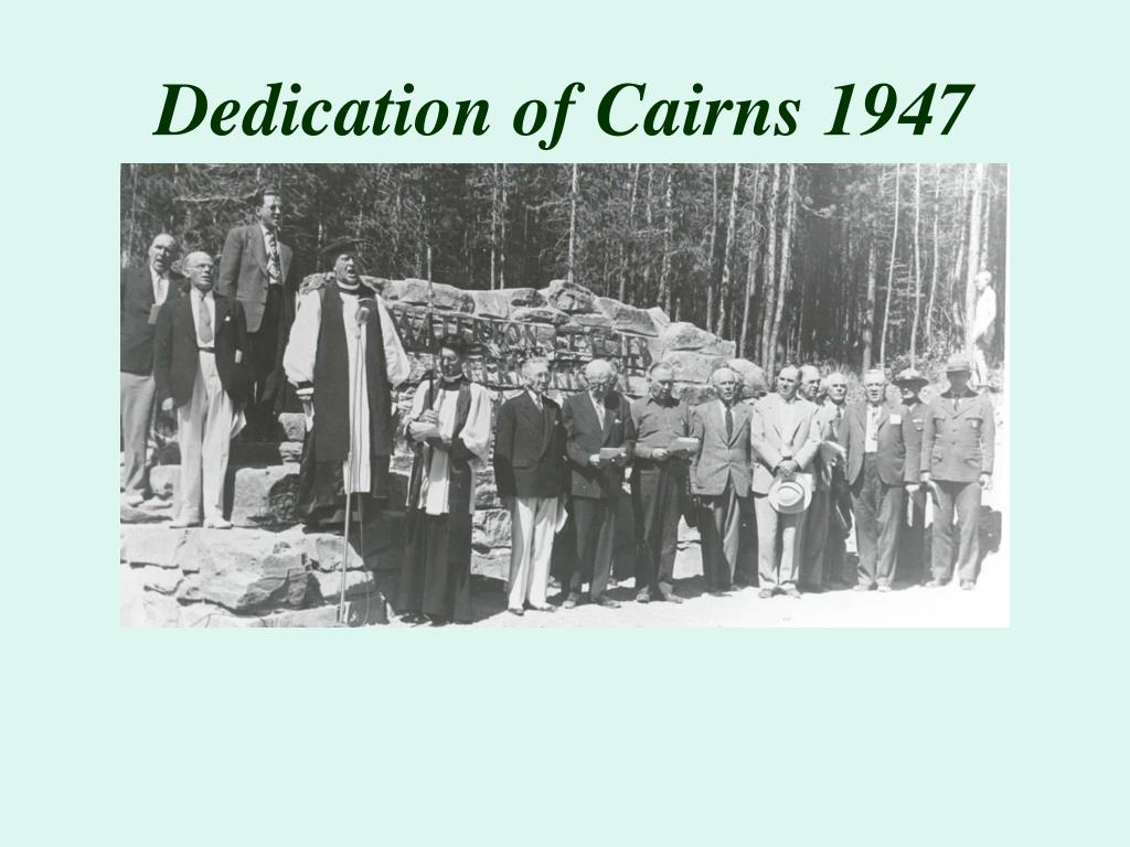 Dedication of Cairns 1947
