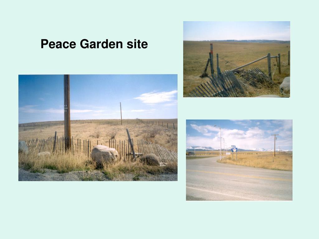 Peace Garden site