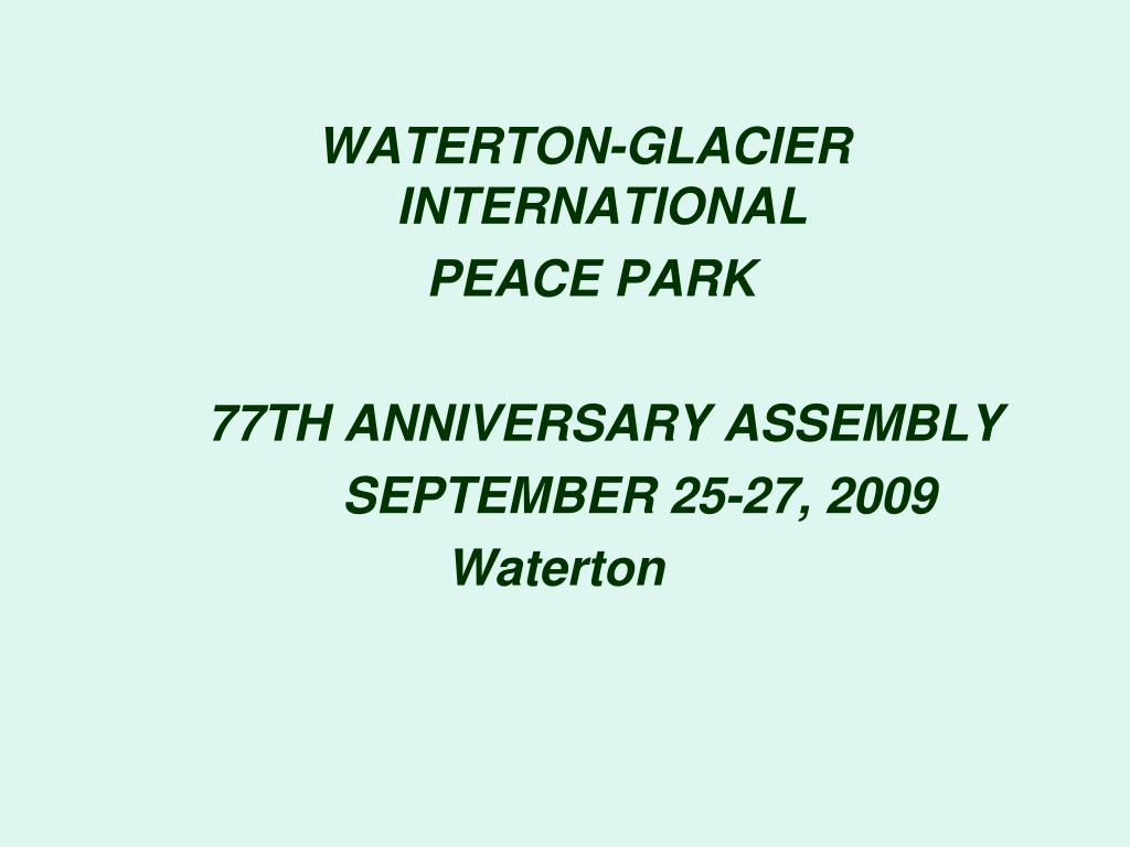 WATERTON-GLACIER INTERNATIONAL