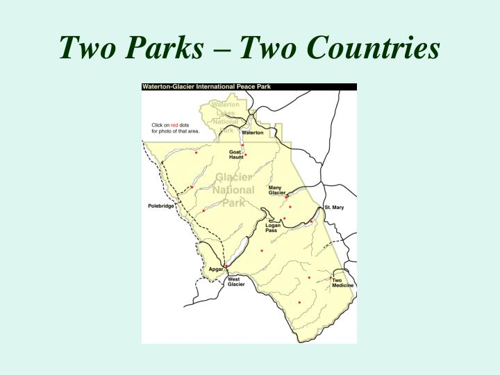 Two parks two countries