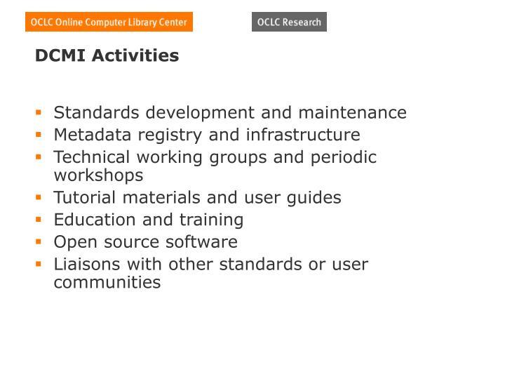 DCMI Activities